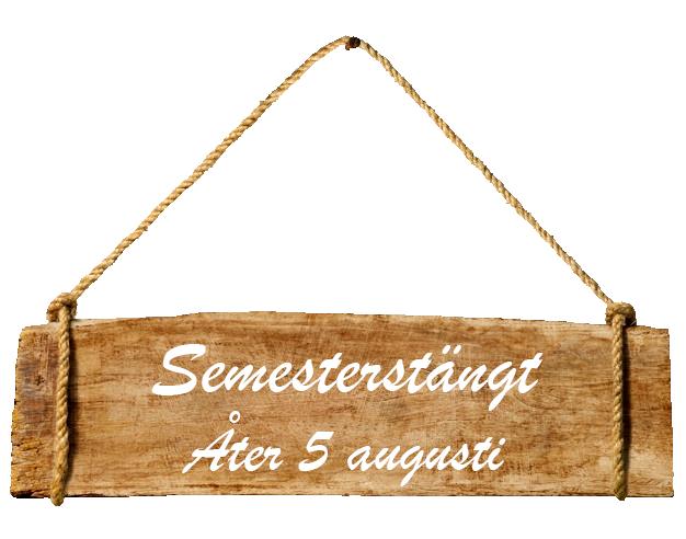 Semesterstängt, öppnar 5 augusti
